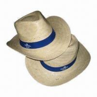 Buy cheap Cowboy Straw Hats, Made of Sunflower Leaf Straw, Available in Various Colors and Designs from wholesalers
