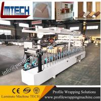 Buy cheap WPC door jamb PVC door pocket Plastic door frame laminating wrapping machine factory from wholesalers