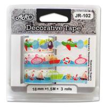 Buy cheap JR-102C Paper Lace Tape, Travel design, curve edge, multi colors from wholesalers