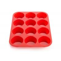 Buy cheap Personalised Red Cake Silicone Baking Molds , Silicone Mini Muffin Pan from wholesalers