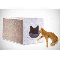 Buy cheap Light Weight Corner Cat Scratcher , Heavy Duty Cardboard Scratching Box For Cats from wholesalers
