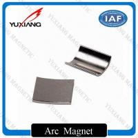 Buy cheap Personalized Sintered Neodymium Arc Magnets For Sever Motor With 38SH from wholesalers