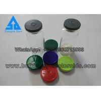 Buy cheap 10ml Custom Vial Labels Clear Glass Vials Glass Bottles With Blue Cap And Stopper from wholesalers