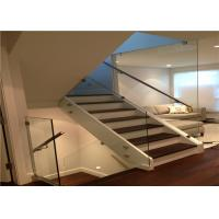Buy cheap Clear view frameless glass balustrade fittings aluminum u channel glass railing systems from wholesalers