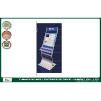 Buy cheap Customized retail store magazine newspaper rack and postcard rack display printed logo from wholesalers
