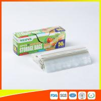 Buy cheap Clear Reclosable Plastic Food Storage Bags Zip Seal With Private Lable from wholesalers