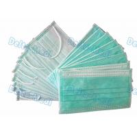 Buy cheap BFE99% Non Woven Disposable Face Mask green Color with inner spot earloop from wholesalers