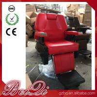 Buy cheap Big Pump Red BarberChairs Used Hair Styling Chairs Luxury Barber Shop Furniture product