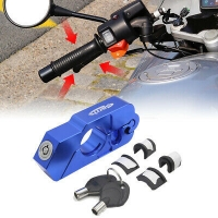 Buy cheap High security anti theft Dual key scooter clutch lever brake throttle handlebar grip motorbike motorcycle lock from wholesalers