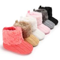 Buy cheap 2019 winter Warm plush Knitting 0-18 months prewalker baby booties knit from wholesalers