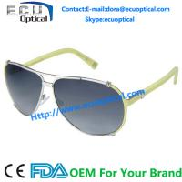 China New Bright Metal Stainless Women Sunglasses 2014 Popular Brand Italy Design on sale