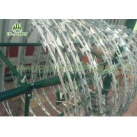 Buy cheap Steel Concertina Razor Wire / Galvanized Razor Wire For Anti - Climb Fence from wholesalers