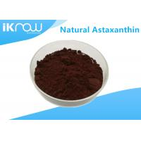 Buy cheap Natural Astaxanthin Supplement Raw Materials Dark Red Powder CAS 472-61-7 from wholesalers