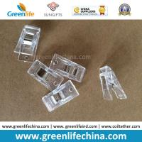Buy cheap Factory Cheap Plastic Transparent Office Paper Stationery Clips w/Metal Sheet from wholesalers