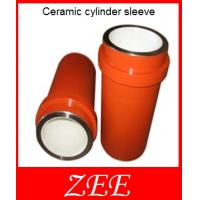 Buy cheap Ceramic cylinder sleeve,mud pump accessories,φ110-180 F1300/1600 from wholesalers