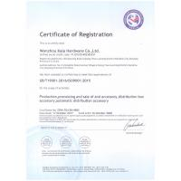 Wenzhou kala Hardware Co., Ltd. Certifications