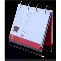 Buy cheap A5 5mm Clear Acrylic Calendar Holder Display Rack Customized from wholesalers