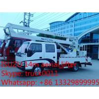 Buy cheap hot sale best price Japanese ISUZU 14m-16m high altitude operation truck, ISUZU 4*2 LHD aerial working truck for sale product