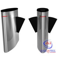 Buy cheap Enter Exit RFID Card / Fingerprint / ESD Tester Flap Barrier Turnstile Automatic Control System from wholesalers
