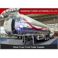 Buy cheap 40cbm fuel tanker semi trailer , Stainless steel water tank semi trailer from wholesalers