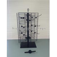 Buy cheap 2 Way Rotating Metal Wire Display Shelving Glove Display Stand With Metal Hooks from wholesalers