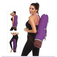 China Large Capacity Yoga Mat Carry Bag Carrier Durable Canvas Cotton Yoga Pilates Backpack on sale