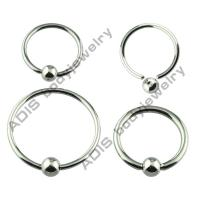 Buy cheap OEM Unisex Cool Anodized Titanium 316l Ball Closure Ring For Nose / Ear from wholesalers
