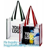 Buy cheap Promo PVC Plastic Shopping Handle Bag, Handling clear pvc blanket bags, handle reusable clear vinyl pvc cosmetic bags fo from wholesalers