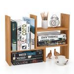 Buy cheap Adjustable Desktop Display Shelf Rack Bookshelf for Office Kitchen Bamboo Home Furniture from wholesalers