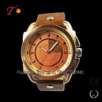China New design novel watch alloy case with PU leather strap Made in China on sale