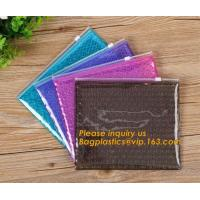Buy cheap Mini small pouches ziplock bags with slider zip plastic bags zipper bubble mailers with laser film/custom design bagease from wholesalers