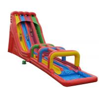 Buy cheap Inflatable Obstacle Course Jumping Castle Water Slide , Kids Bouncy Castle With Slide from wholesalers