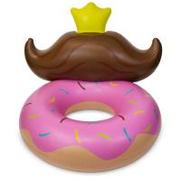 Buy cheap Durable Pvc Huge Donut Mustache Pool Lounge Floats For Kids 4 Feet from wholesalers
