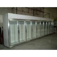 Buy cheap Solid Glass Door Freezer Triple Shelves With Heater Inside from wholesalers
