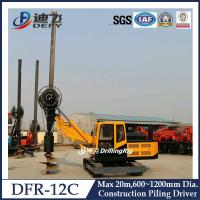 Buy cheap 600-1200mm Diameter Hydraulic Piling Driver Machine DFR-12C from wholesalers