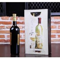 Buy cheap New design Black corrugated cardboard 6 piece wine bottle gift box from wholesalers