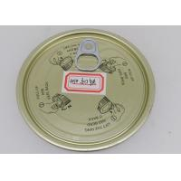 Buy cheap 99mm Environmental Golden Tinplate Easy Open Lid For Paper Tubes And Plastic Cans from wholesalers