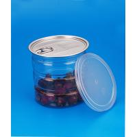 Buy cheap Round Leak Proof Bpa Free PET Plastic Jars Easy Open Ends 680ml Canned Food Packaging from wholesalers