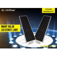 Buy cheap High Brightness Park Solar Powered LED Street Lights With 5 - 6 M Pole 20 W from wholesalers