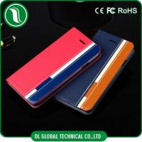 Buy cheap Red iPhone 6 Plus Flip Leather Case iPhone Cell Phone Cases with Card Slot from wholesalers