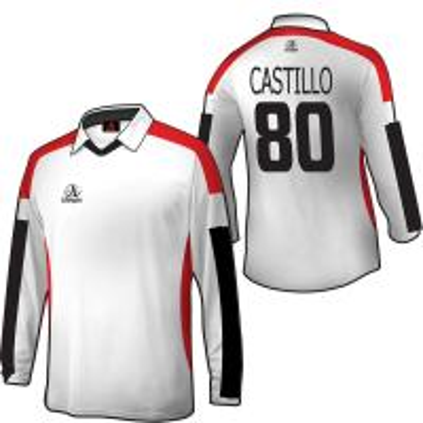 Custom long sleeves goalkeeper soccer playing shirts for Custom football jersey shirts