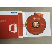 Buy cheap 100% Activation Genuine Office 2016 Retail Box Pro 32 / 64 Bit DVD COA Sticker from wholesalers