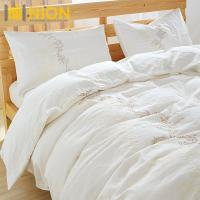 Buy cheap Stone Wash French Flax Linen with embroidary Pure Linen Bedding Set : Bedding Set Material: 100%Linen/Hemp from wholesalers