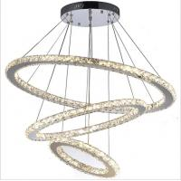 Buy cheap Chrome Diamond Ring Modern Hanging Ceiling Lights Adjustable Chandelier from wholesalers