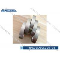 Buy cheap EN 1652 Double Side Tin Cladding Copper Foil Roll , tinned copper foil from wholesalers