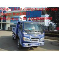 Buy cheap 2017s best price Forland 4*2 RHD 4tons mini dump truck, factory sale best price Forland diesel dump tipper truck from wholesalers
