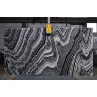 Buy cheap River Wave Spray Black & White Natural Marble Tile Slab For Interior Design from wholesalers