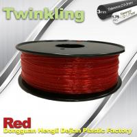 Buy cheap Flexible 3D Printer Filament Twinkling 3mm 1.75mm Red Filament 1.3Kg / Roll product