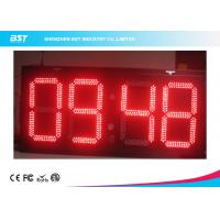 Buy cheap Electronic Outdoor Large Led Digital Wall Clock Timer , Waterproof IP67 from wholesalers