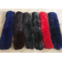 Buy cheap Raccoon fur collar Luxurious Ladies Long Dechable Leather Coat Collar 100cm from wholesalers